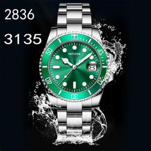 Лучшие ETA 3135 2836 Мужские часы Светящиеся Дайвинг Спорт Ceramic 904L 116610LN Мужские часы 40мм Luminous Мужчины водонепроницаемый 10M часы