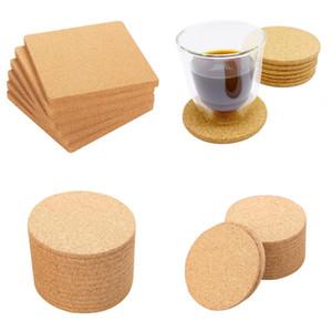 Wedding Party Coaster Plain Cork Round Square Pad Bowl Wok Pot Dish Table Heatproof Non Slip Placemat 0 65zp G2