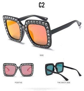 Gläser Mode Square Diamant Damen Sonnenbrillen 5702