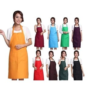 2019 New Black Cooking Baking Kitchen Apron Restaurant Aprons For Women Home Sleeveless