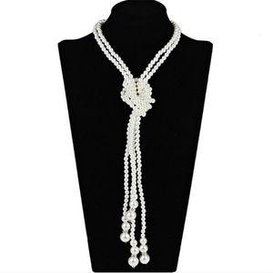Classical Fashion Pearl Multi-Layer Kottad Maglione Catena Catena lunga collana nobile gioielli femminili imitazione collana di perle