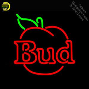 Budweise Bud Appl Neon Sign Neonlicht-Zeichen reale galss Rohre Handel Erholung Lager-Licht Iconic Neon Zeichen für den Verkauf
