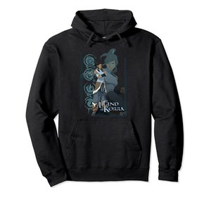 Nickelodeon The Legend Of Korra Elements Korra Poster Pullover Hoodie Unisex Size S-5XL with Color Black Grey Navy Royal Blue Dark Heather
