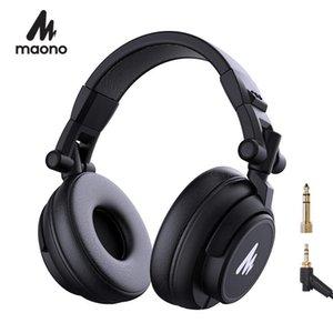 Профессиональные наушники DJ Studio Monitor Наушники над ухом и съемным видом кабеля с драйвером 50 мм для DJ Studio A AU-MH601