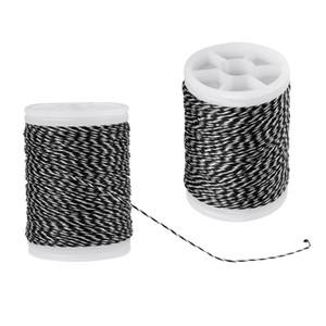 2 Pieces 110m Fiber Serving Thread for Peep Nock Bowstring Black & White