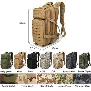 30 35L Army Military Bags Camping Backpacks Tactical Bag Pack Molle System Camouflage Hunting Trekking Hiking Rucksack XA531WA