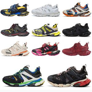 2021 Top Paris 3.0 Track S Triple S Clunky Sneakers Grau Orange Herren Blaue Version Designer Frauen Männer Sport Schuhe Größe 36-45 06FP #