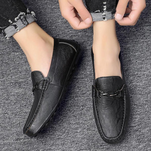 Fashion Leather Shoes Men Loafers Shoes Men Casual 2020 Spring Autumn Comfort Slip-On Moccasins Flat Mens Driving