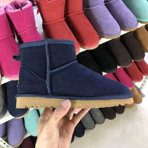 Frauen Männer 100% echtem Rindsleder Ankle Boots Australian Women Mann Schnee-Boost-warme Winter Botas de Nieve Frauen Designer Stiefeletten
