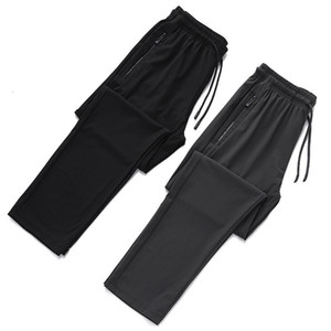 Summer Large Size Couples ice silk ku Lard-bucket Fat Brother Men's Trousers Plus-sized Athletic Pants Europe and America Large