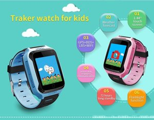 Q529 Y21 GPS Kids Smart Watch with 1.44 inch OLED Screen Muti-funtion 3colors for choice with retail box Free shipping