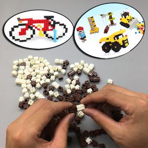 شخصيات الرسوم المتحركة البسيطة بناء طوب الماس كتل الطوب بناء لعبة للأطفال هدية للأطفال لغز الالعاب