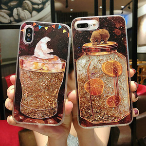 Luxury Ins Bling Creative glitter quicksand Grain Silicone Phone Case For iPhone 12 Mini 11 Pro Xs Max X XR 7 8 SE Plus Soft Back Cover