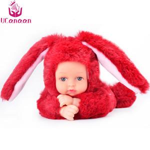 UCanaan 25CM boneca brinquedos das crianças dos desenhos animados Bichos de pelúcia Angela Plush Toy Dolls dormir para crianças