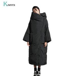 KJMYYX Veste d'hiver Femmes Nouveau Épaissement Parka à capuche longue Femme manteau d'hiver Veste chaude Veste Femme manteaux Overcoat 201019