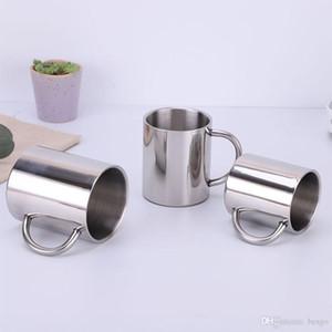 Tasse de tasse de randonnée portative de 400 ml de 400 ml d'acier inoxydable Tasse de randonnée portable de plein air Tasse à café double couche en acier inoxydable DH1116-2 T03