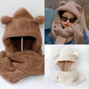 b3Ymi Hot lovely fashion brand Scarves Girls Winter Hat quality high Scarf Hats Baby Sets warm scarf hat suit full knit hat Children Hats