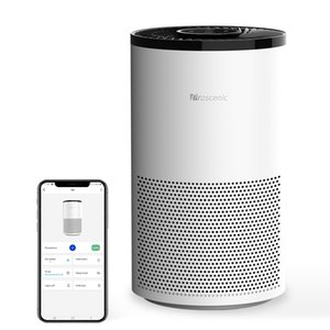 Proscenic A8 appliance Air Purifier hepa filter room, desktop, Remove formaldehyde and bacteria intelligent sensor PM2.5 remote