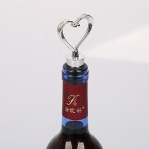 Heart Shaped Flaschenverschluss Durable Rotwein-Flaschen-Stopper Korken Korkenzieher Kunststoff Weinausgießer Stecker-Stopper-freies Verschiffen
