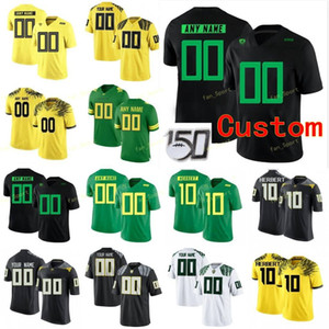 Personalizado Oregon Ducks College Football Jersey 10 Justin Herbert Spencer 18 Webb 21 LaMichael James 21 Royce Freeman Mulheres costurado