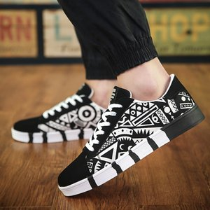Breathable SMKYGG Casual Sports zapatos deportivos Black and White Plaid Men's Fashion Trend Skateboard Shoes