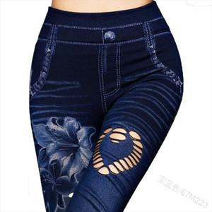 Wepbel Jegling Pants New Womens Capri Leggings en jeans 3 4 Été Haute Leggings élastiques JEGGINGS Skinny Butterfly Imprimé