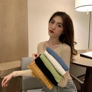 Aossviao inverno donna maglione o-collo maglione 2020 caduta casual maglioni sottili pullover donne manica lunga elasticity maglione elasticizzante
