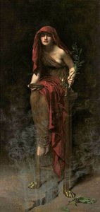 John Collier Priestess of Delphi Home Decoration Handpainted &HD Print Oil painting On Canvas Wall Art Canvas Pictures 201023