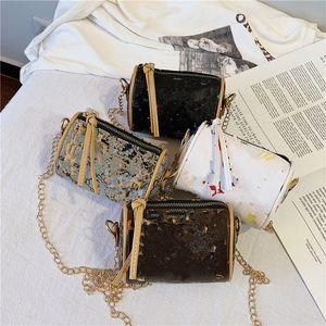 أطفال لطيف حقائب اليد الكورية الفتيات البسيطة الأميرة المحافظ الكلاسيكية نمط مطبوعة بو سلسلة حقائب حمل الأزياء طفل الحلوى حقيبة هدية جميلة