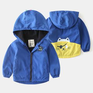 Spring Autumn Boys Jackets cartoon Jackets Children's Clothing boys Casual Windbreaker Kids Hooded jacket Designer