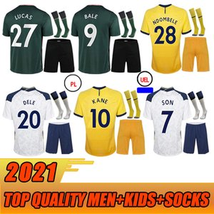 20 21 4th Kane Son Bale Bergwijn Fourt Dele Soccer Jerseys 2020 2021 Lucas Dele Kit Kit de fútbol Bale Ndombele Adult + Kit Kits tan
