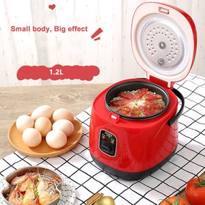 1.2L Mini Electric Rice Cooker Food Steamer Multifunction Kitchen Cooking Pot Non-stick Liner Lunch Box Stew Soup Porridge 220V 201015