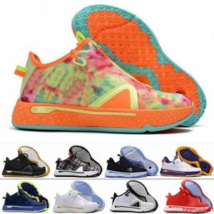 2020 High Quality New PG 4 Gatorade NASA Paul George Basketball Shoes 4s IV Zoom GX Black White Men Designer Trainers Sports Sneakers