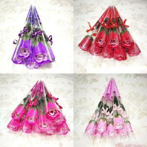 Pratica sapone flower creativo rifornimenti di rosa creativo mai conering multifunzione donna uomo uomo sapwort San Valentino regalo 0 53ry k2