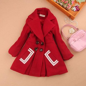 2020 kids clothes girls winter coats and jackets children clothing girls wool coat woolen blends cashmere clothes age2-16Y