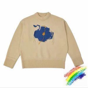 Pullover Männer Frauen 1 Qualitäts-Blau Graffiti Stickerei Woll Hoodie Sweatshirts