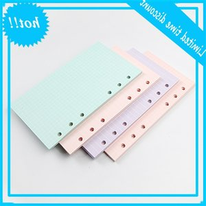 40 Sheets 5 Colors A6 Loose Leaf Solid Color Notebook Refill Spiral Binder Inside Page Planner Inner Filler Papers School Office Supplies