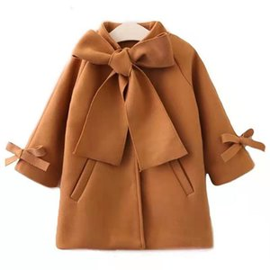 New Winter Autumn Toddler Kids Baby Girls Coat Cute Warm Bowknot Coat Overcoat Girls Kids Long Sleeve Outwear Jacket