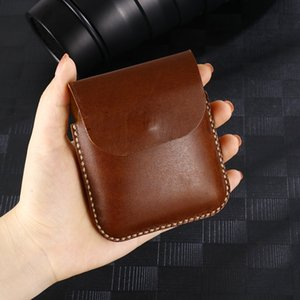 Smartphone Belt Clip Mobile Holster Genuine Leather Case For Samsung Galaxy Z Flip Cover Phone waist Bag