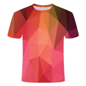 3D-Gitter Three-Dimensional Spirale 3D-Druck Shirts Hippie Grafik Harajuku Herrenbekleidung