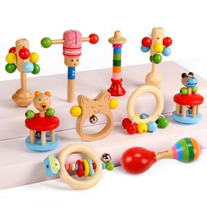 2020 lana della Nuova naturale di origine animale faggio Rattle Squeaky Toy Camera Decorazione Baby Set Bambini Sonagli Massaggiagengive Perle di