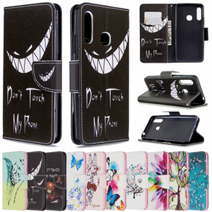 Printed Patterns Flip Phone Case For Samsung Galaxy A10S A10E A20S A20E A30 A30S A40 A50 A50S A60 A70 A70E Wallet Case +Stand Holder