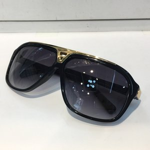 classic evidence millionaire sunglasses retro vintage men Z0350W laser shiny gold frame unisex style top quality come
