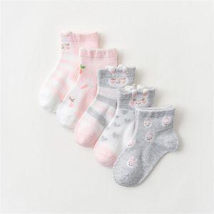 5 pairs lot Children Socks Boy Girl Cotton fashion Breathable Mesh socks Spring summer High quality 1-12T Kids Birthday Gifts CN sp
