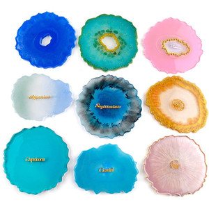 Ágata molde de silicone epóxi resina molde grande copo de copo grande onda em forma de coaster de coaster fazendo artesanato grau alimentar diy moldes artesanato ferramentas 9033