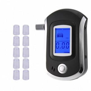 11 마우스 피스 AT6000 LCD 디스플레이 DFDF Z2ep 번호와 LCD DISPALY와 전문 디지털 숨을 알코올 테스터 음주