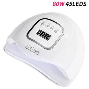 80W UV Nail Lamp High Power LED Lighting For Nails All Gel Polish Nail Dryer Auto Sensor Sun Led Light Art Manicure Tools
