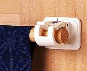 4pcs Auto adhesivo Ganchos Cortina Barra de cortina Pole Pole Drapey Hookers Cortinas Herramientas para el hogar1