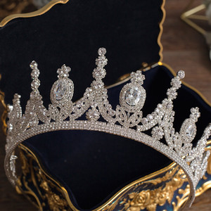 2021 Luxury Tiaras And Crowns Princess Pageant Engagement Headband Wedding Hair Accessories Evening Dress Bridal Jewelry