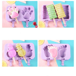 Silicone Ice Cream Mold Cartoon Cute Ice Cream Popsicle Ice Maker Mould Home Kitchen DIY Homemade Popsicle Molds